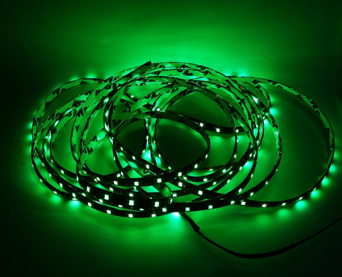 Зеленая светодиодная лента 5м., фото 2