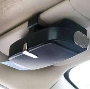 Футляр для очков в автомобиль (очечник) Черный