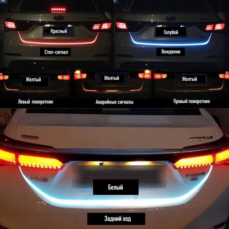 Динамическая подсветка двери багажника (120см), фото 4
