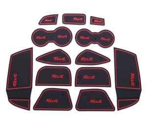 Коврики в подстаканники и в дверные ниши Ford Focus 3 (13 ковриков)