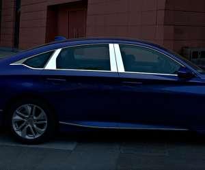 Молдинги на окна (12 предметов) Honda Accord X (2017+)