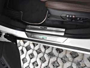 Накладки на внутренние пороги BMW X1 (2015+)