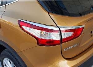 Хром накладки на задние фары Nissan Qashqai (2014-2017)