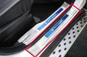 Накладки на внешние пороги Mitsubishi Outlander (2015+)