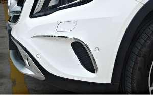 Хром накладки на передние ПТФ Mercedes-Benz GLA (2013-2017)