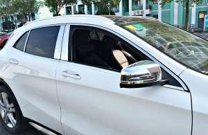 Молдинги на окна (12 предметов) Mercedes-Benz GLA (2013-2017)