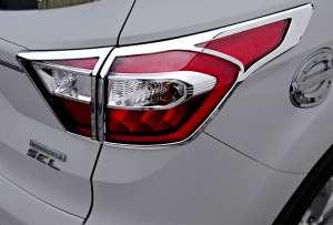 Хром накладки на задние фары Ford Kuga 2017+
