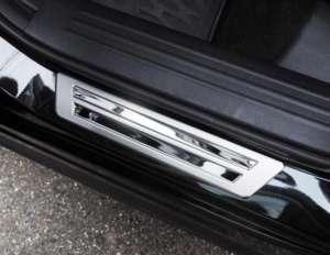 Накладки на внешние пороги (нерж.) на Mazda CX-5 2018+