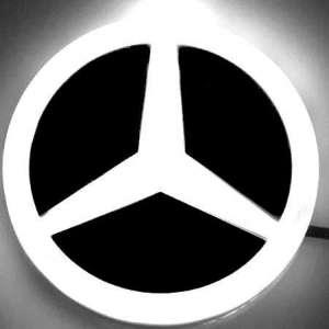 4D светящийся шильдик Mercedes-Benz