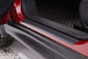 Накладки на внешние пороги Nissan Juke (2 тип)