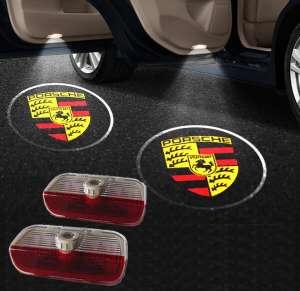 Штатная подсветка дверей Porsche Cayman (2013-2016)
