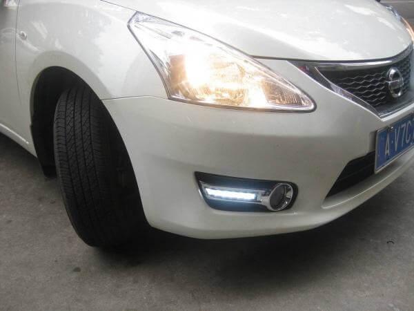 Дневные ходовые огни Nissan Tiida (Китай)
