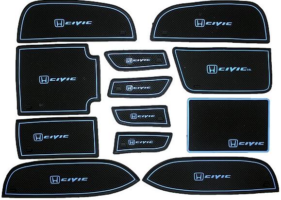 Коврики в подстаканники и в дверные ниши Honda Civic (2012-2015) 2.0