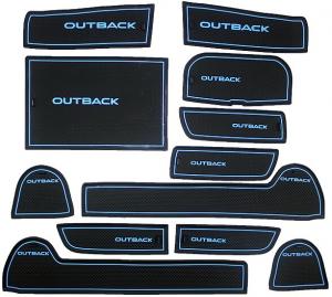 Коврики в подстаканники и в дверные ниши Subaru Outback (2009-2014)