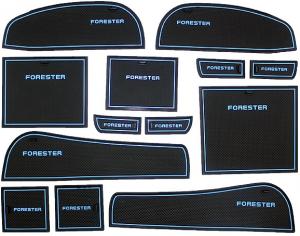 Коврики в подстаканники и в дверные ниши Subaru Forester (2008-2013)