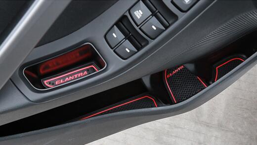 Коврики в подстаканники и в дверные ниши Hyundai Elantra (18 ковриков), фото 4