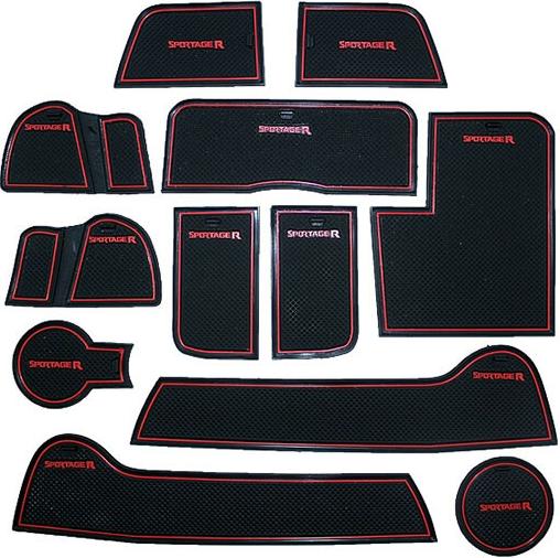 Коврики в подстаканники и в дверные ниши Kia Sportage III