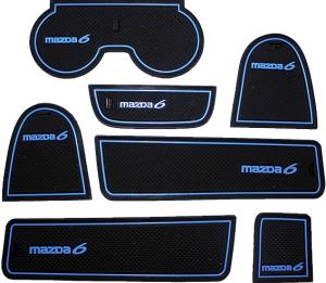 Коврики в подстаканники и в дверные ниши Mazda 6 (2002-2005)