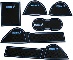 Коврики в подстаканники и в дверные ниши Mazda 3