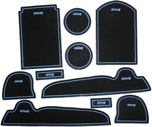 Коврики в подстаканники и в дверные ниши Toyota Rav4 (2006-2012)