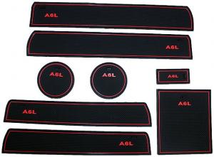 Коврики в подстаканники и в дверные ниши Audi A6 (2004-2010)
