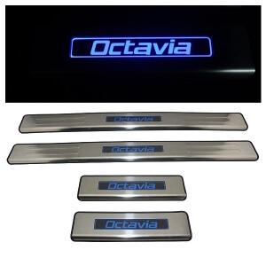 Накладки на пороги Skoda Octavia 2008-2013