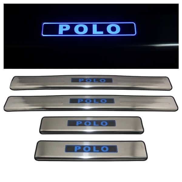 Накладки на пороги VW Polo 2009-2015
