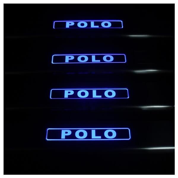 Накладки на пороги VW Polo 2009-2015, фото 3