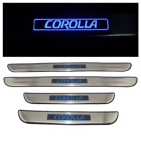 Накладки на пороги Toyota Corolla 2006-2013