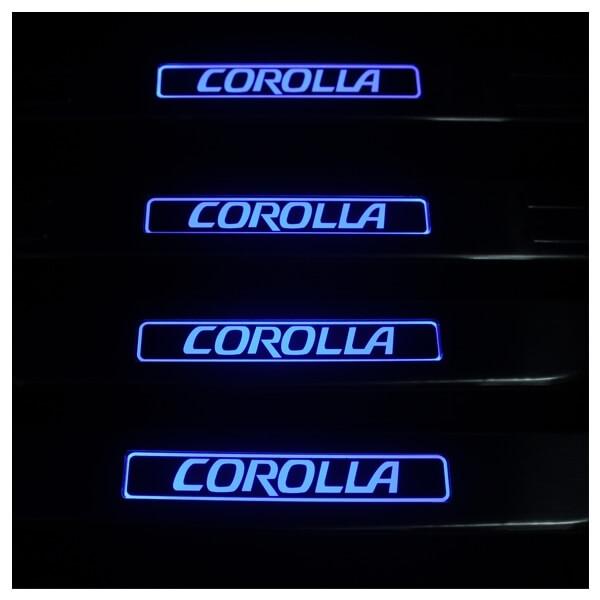 Накладки на пороги Toyota Corolla 2006-2013, фото 3