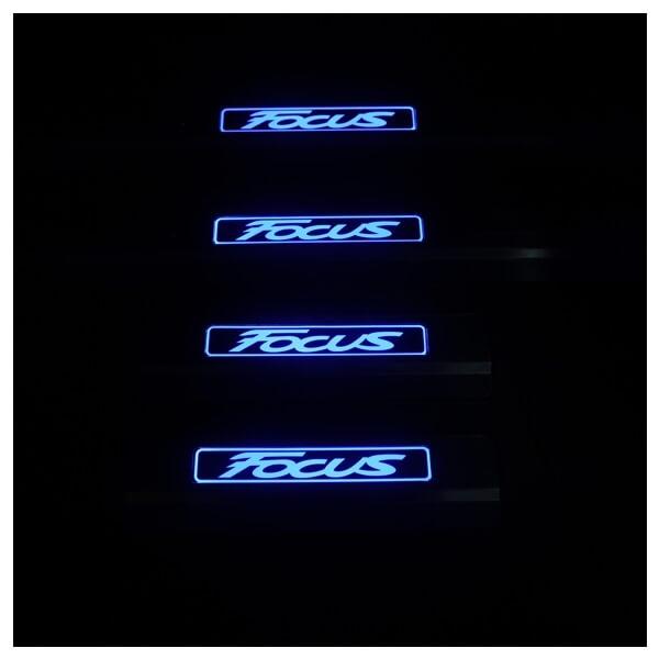 Накладки на пороги Ford Focus 3, фото 3