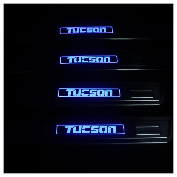 Накладки на пороги Hyundai Tucson 2004-2010, фото 3