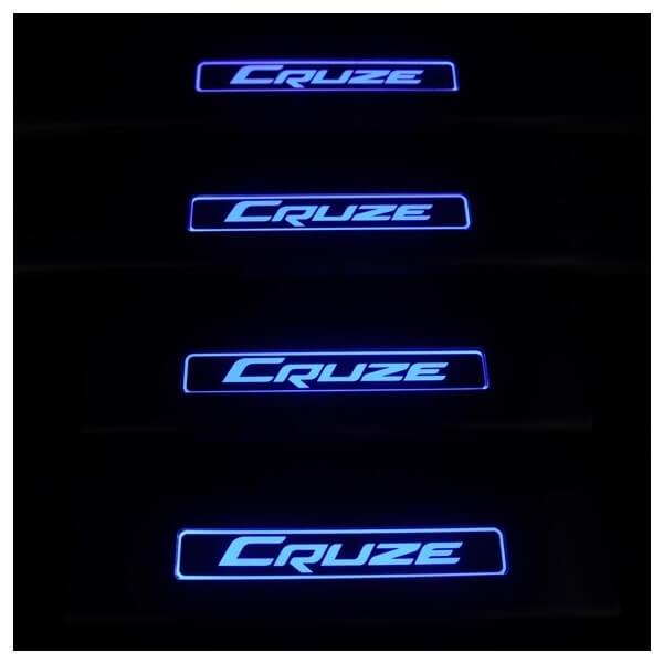 Накладки на пороги Chevrolet Cruze, фото 3