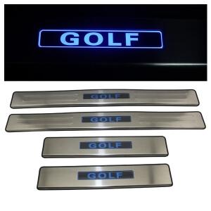 Накладки на пороги VW Golf 2009-2012