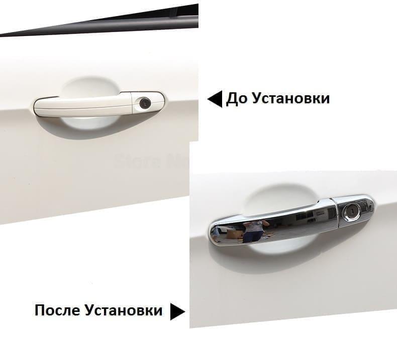 Хромированные накладки на ручки Volkswagen Polo, фото 2