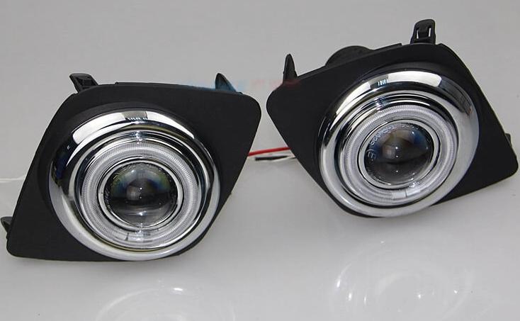 Противотуманные фары с ангельскими глазками Toyota Rav4 (2009-2012)