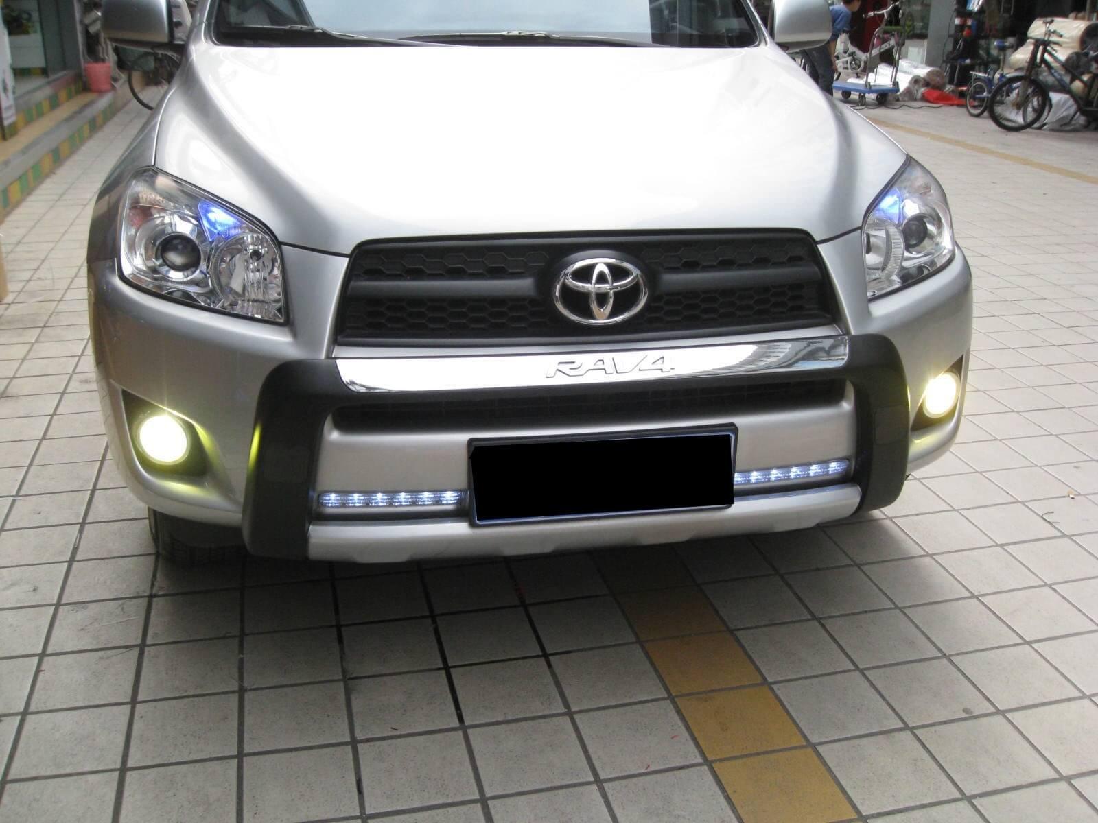 Противотуманные фары с ангельскими глазками Toyota Rav4 (2009-2012), фото 3