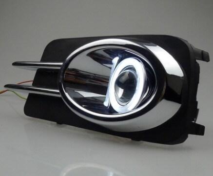 Противотуманные фары с ангельскими глазками Volkswagen Tiguan (2011-2015)