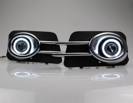 Противотуманные фары с ангельскими глазками Volkswagen Tiguan (2011-2015), фото 2