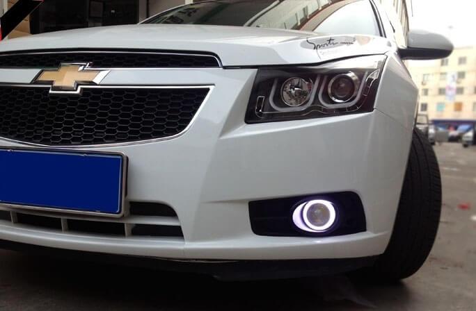 Противотуманные фары с ангельскими глазками Chevrolet Cruze, фото 2