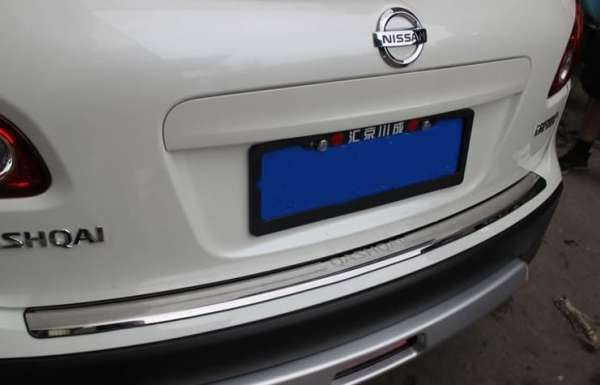 Накладка на бампер Nissan Qashqai J10