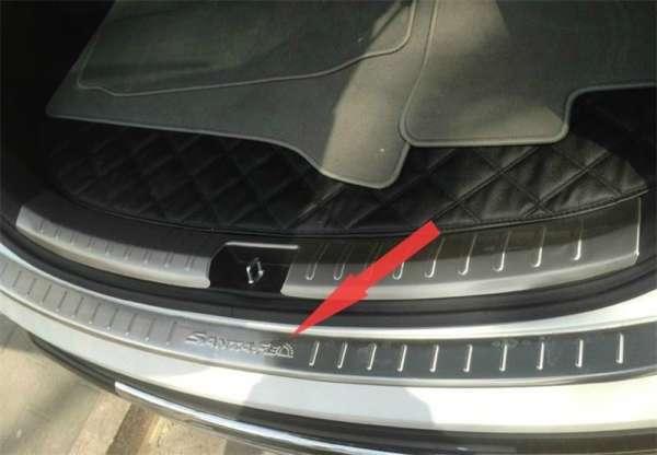 Накладка на бампер Hyundai Santa Fe 3 Grand