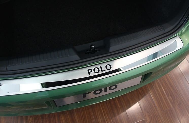 Накладка на бампер Volkswagen Polo 5 (hatchback)