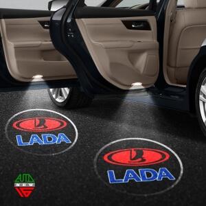 Лазерная проекция с логотипом Лада - Lada