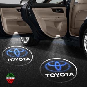 Лазерная проекция с логотипом Toyota