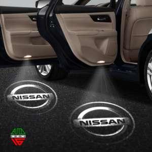 Лазерная проекция с логотипом Nissan