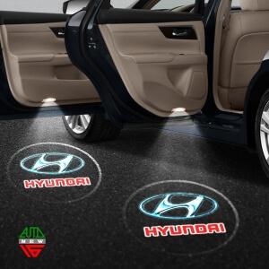 Лазерная проекция с логотипом Hyundai