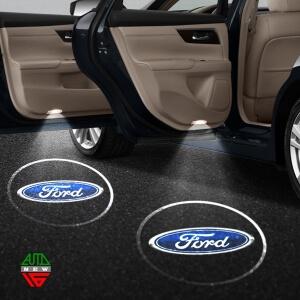 Лазерная проекция с логотипом Ford
