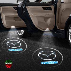 Лазерная проекция с логотипом Mazda