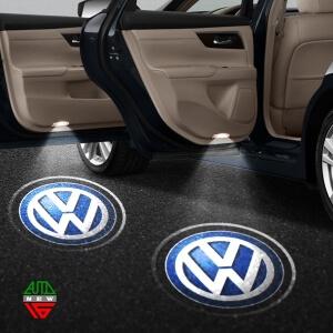 Лазерная проекция с логотипом Volkswagen